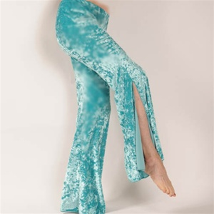 Slit Flared Dance Pants